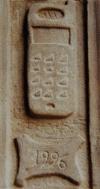 Celular en la Catedral de Calahorra en La Rioja, España