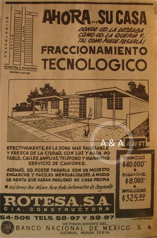 Fraccionamiento Tecnológico :: 28 febrero 1966