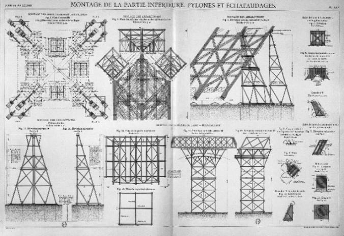 Resultado de imagen de torre eiffel construccion