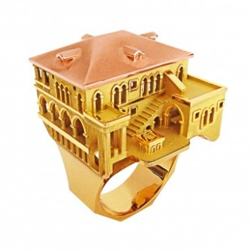 BAGUE ARCHITECTURE VENISE EN OR TOURNAIRE