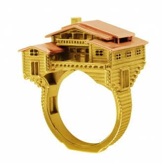 MEDIUM CHALET ARCHITECTURE RING
